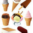 Stock Vector: Ice-cream collection