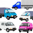 Stock Vector: Vector cargo vehicles