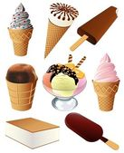 Ice-cream collection — Stock Vector