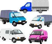 Vector cargo vehicles — Stock Vector