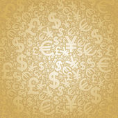 Background currency gold — Stock Vector