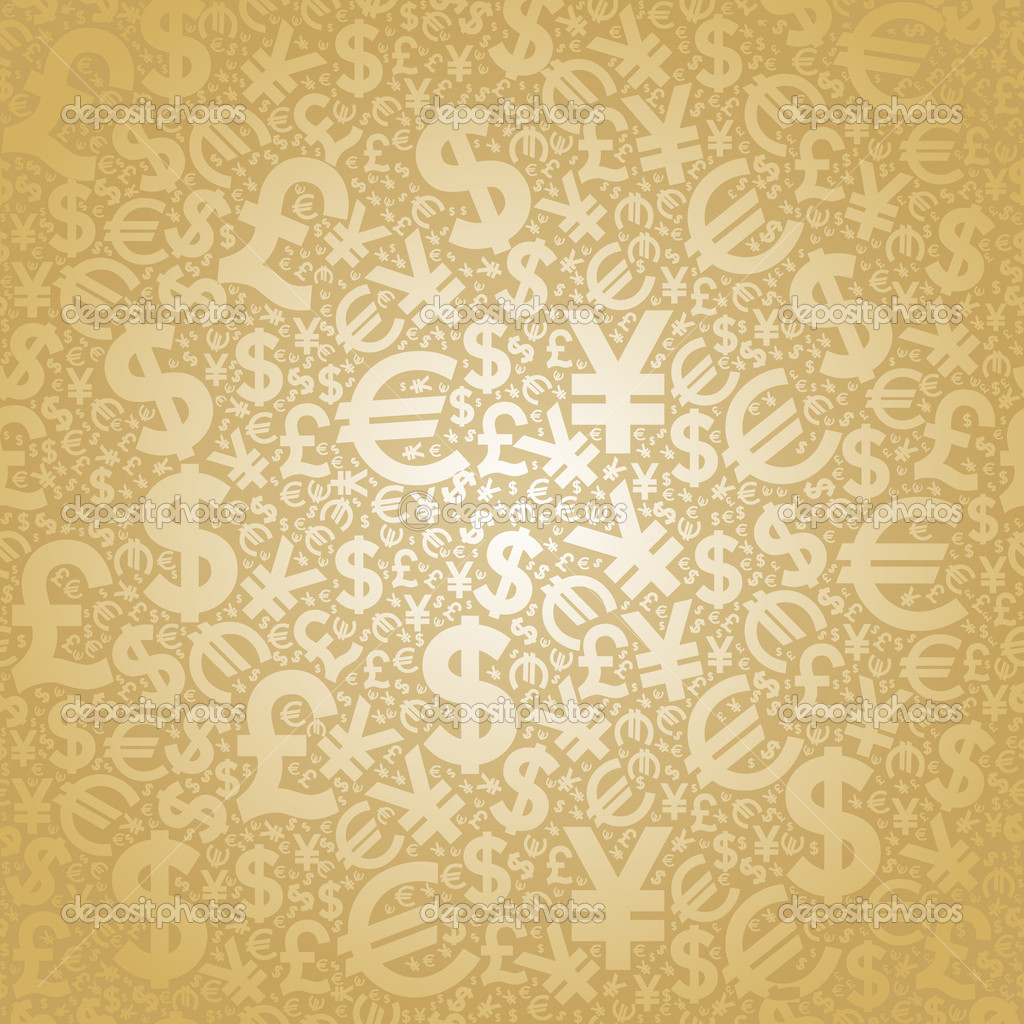 Background Currency Gold Stock Vector 169 Vladgrin 8518456