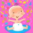Baby icon - Stock Vector