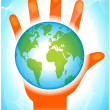 Caring for planet earth - Stock Vector