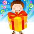 Child with a gift - Stock Vector