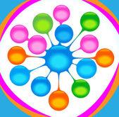 Abstraction balls — Stock Vector