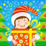 Girl with a gift christmas — Stock Vector