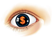 Dollar_Eye — Stock Vector