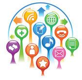 Social-Media — Vector de stock