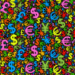 Background currency — Stock Vector