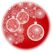 Vermelho de Natal bola redonda — Vetor de Stock