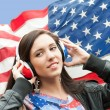 Learning language - American English (girl) — Stock Photo #10130194
