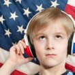 Stock Photo: Learning language - American English (boy)