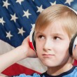 Learning language - American English (boy) — Stock Photo #10130207
