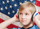 Learning language - American English (boy) — Stock Photo