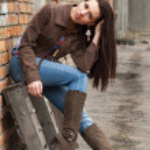 Girl on the back street — Stock Photo