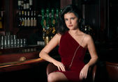 Girl at a Bar — Stock Photo