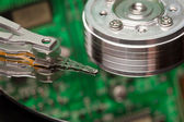 Сloseup of a hard disk head — Stock Photo