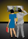 Fönster shopping 2 — Stockvektor
