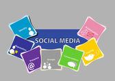 Social Media Concept 2 — Stock Vector