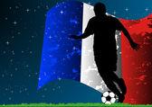 Francouzská fotbalová — Stock vektor