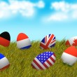 Easter Eggs on Prairie — Stock Photo