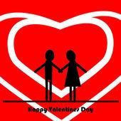 Valentine par — Stockvektor
