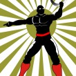 Royalty-Free Stock Vektorfiler: Hero in Black on Action 3