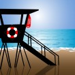 Beach Lifeguard Hut — Stock Vector