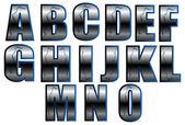 Lettertype ingesteld 2 — Stockvector
