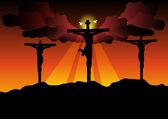 Jesus Christ Crucified — Stock Vector