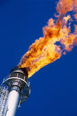 . Gas flare — Stock Photo