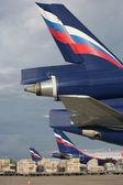 The cargo aircrafts of Airflot company — Stock Photo