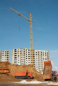 Construction of residential in suburbs of Moscow — Stock Photo