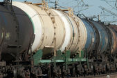 Oil tank truck train — Stock Photo