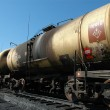 Bulk-oil train. The tank with crude oil — Stock Photo