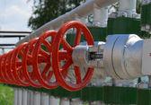 Russian oil production. Installation unit on oilfield — Stock Photo