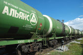 Russia. Oil tank truck train — Stock Photo