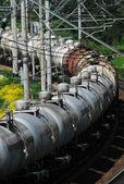 Russia. Oil tank truck train — Stock Photo