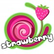 Strawberry background for design of packing. — Vector de stock  #8544985