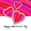 Vector valentine's card background with hearts. — Stock Vector