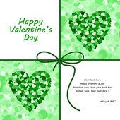 バレンタインの日カードをベクトルします。. — ストックベクタ