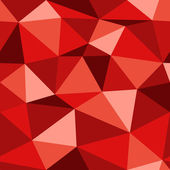 Vector red geometric seamless background. — Stock Vector