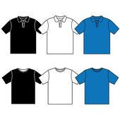Polo t-shirt vektör. — Stok Vektör