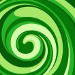 Vector whirlpool green background. - Vektorgrafik