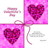 Vector valentines day card. — Stock Vector