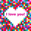Valentines day background with heart. — Stock Vector