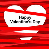 Valentine's card. — Stock Vector