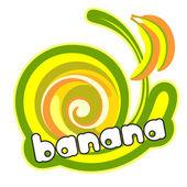 Banana label. — Stock Vector