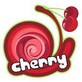 Cherry dessert. — Stock Vector